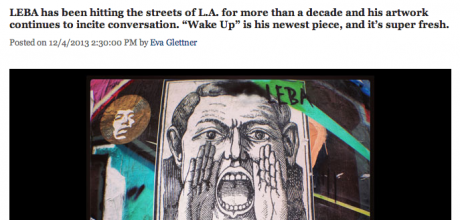 WAKE UP : featured on LA Magazine