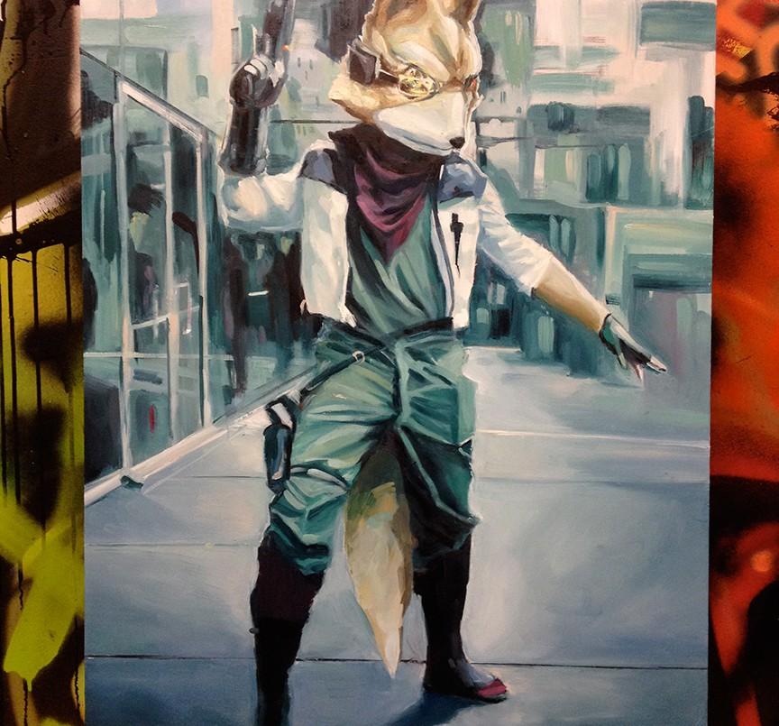 LeBA oil painting Star Fox nintendo snes nes vintage games cosplay