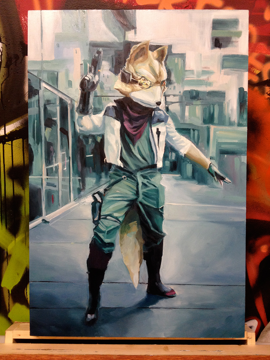 LeBA oil painting Star Fox nintendo snes nes vintage games cosplay